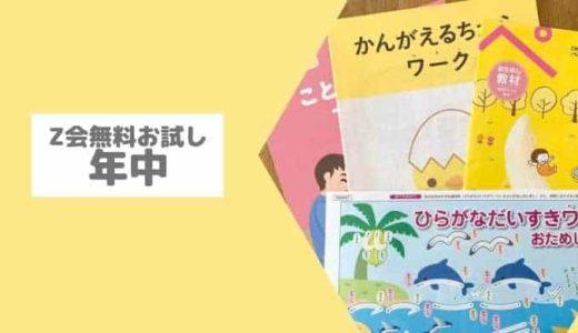 Z会幼児コース【年中】口コミ!無料お試し教材でZ会幼児のレベルチェック!