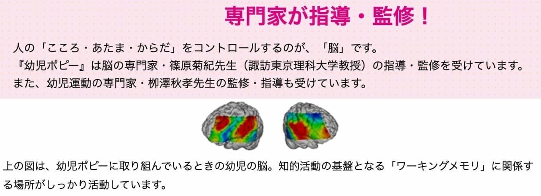 幼児ポピー脳科学